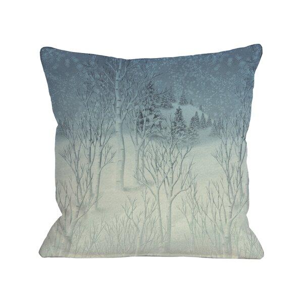 Winter Woods Throw Pillow by One Bella Casa