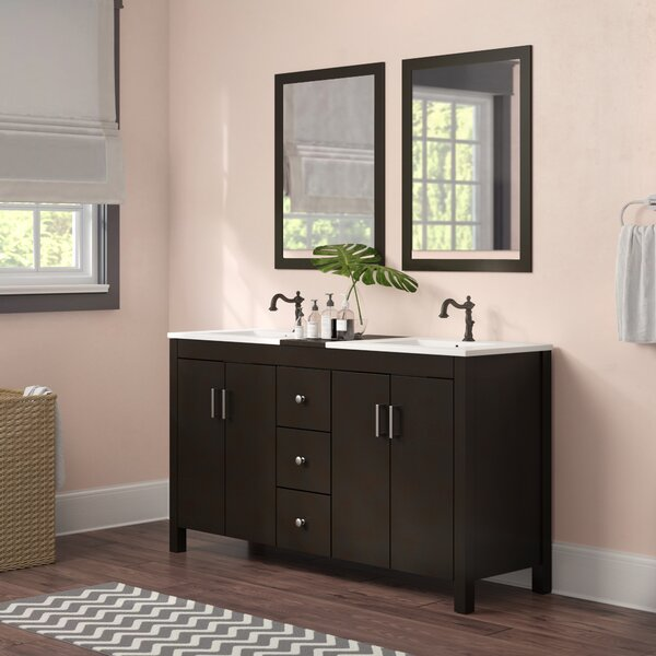 Ruhl 60 Double Bathroom Vanity Set with Mirror by Latitude Run