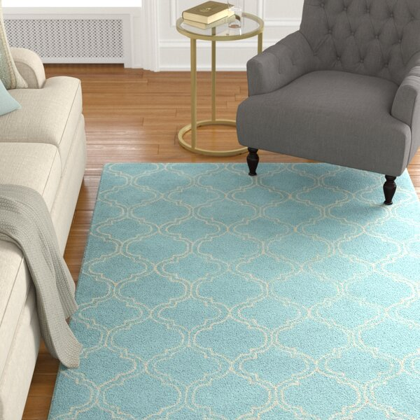 Orson Blue/Ivory Area Rug by Charlton Home