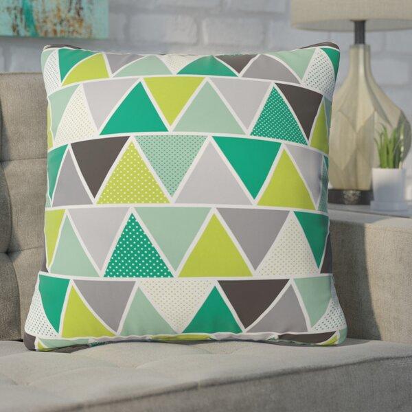 Spence Emerald Triangulum Throw Pillow by Ivy Bronx