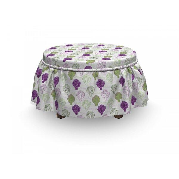 Artichoke Sketch Food 2 Piece Box Cushion Ottoman Slipcover Set By East Urban Home