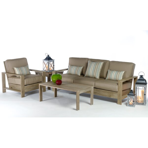 Boykin Deep Seating Group with Cushions by Rosecliff Heights