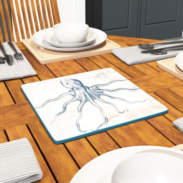 Tudor Square Stoneware Platter by Beachcrest Home