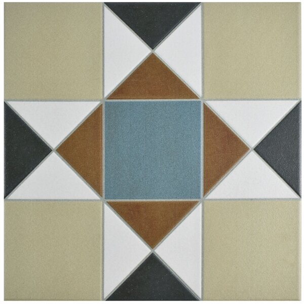 Narcisso 13 x 13 Porcelain Field Tile in Blue/Beige by EliteTile