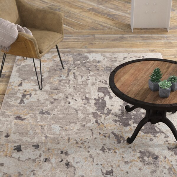 Cearbhall Distressed Taupe/Beige Area Rug by Williston Forge