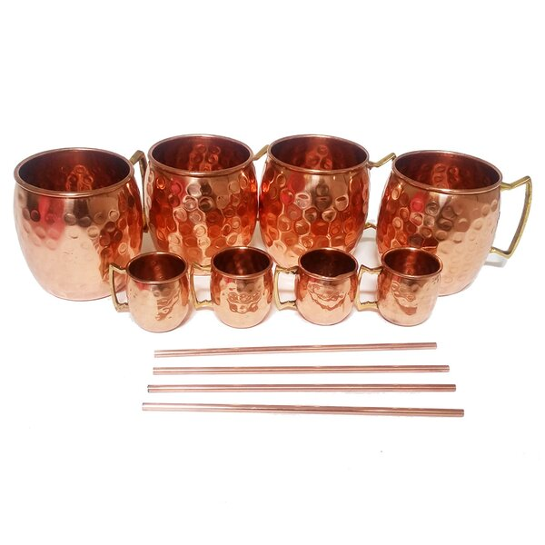 Nghiem 12 Piece Copper Assorted Glassware Set by Ebern Designs