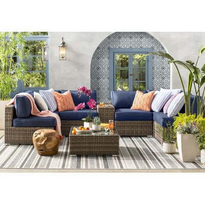 Sol 72 Outdoor Rattan Sectional Seating Group Sunbrella Cushions Seating Groups