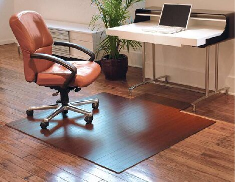 Beveled Bamboo Office Chairmat by Symple Stuff