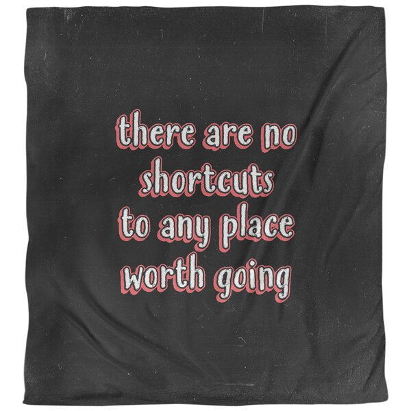 Quotes No Shortcuts Single Reversible Duvet Cover