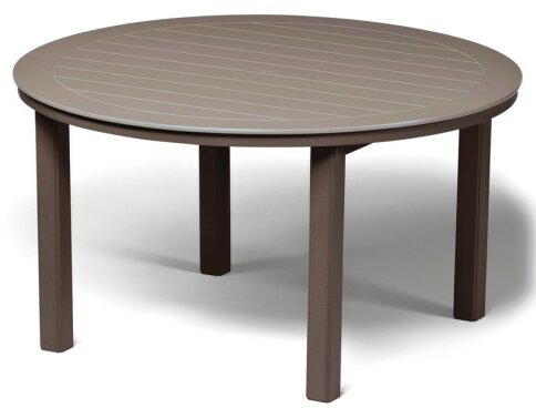 Marine Grade Polymer Round 54 Dining Table by Telescope Casual