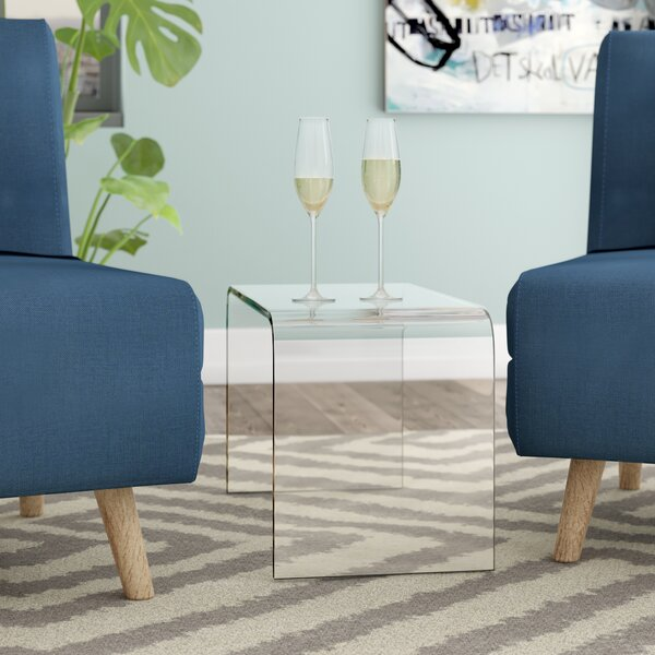 Rudisill Acrylic End Table By Orren Ellis