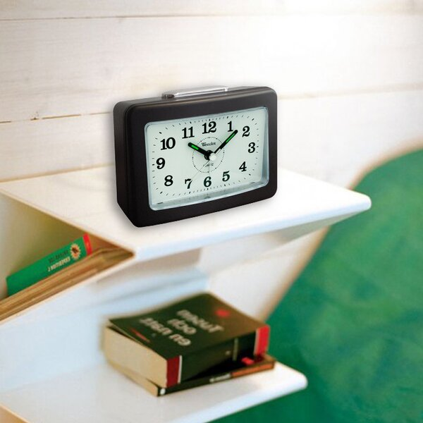 Quake Rectangular Analog Alarm Clock by Westclox Clocks