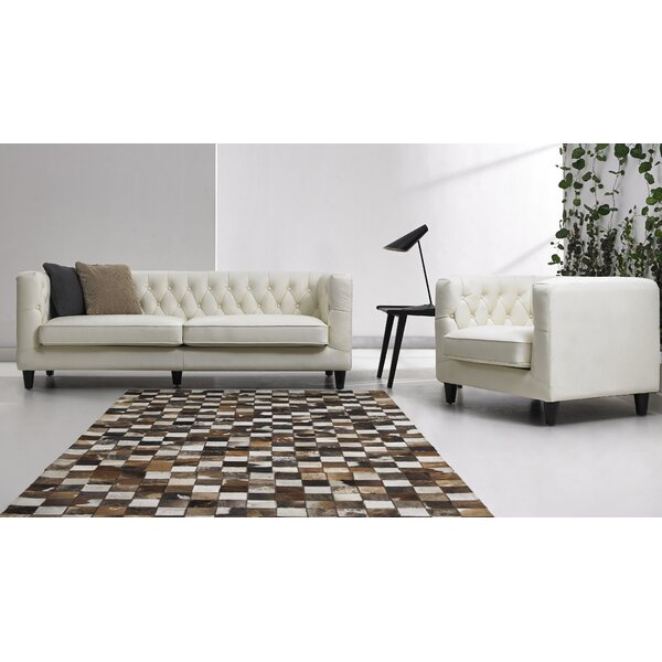 2 Piece Leather Living Room Set by David Divani Designs