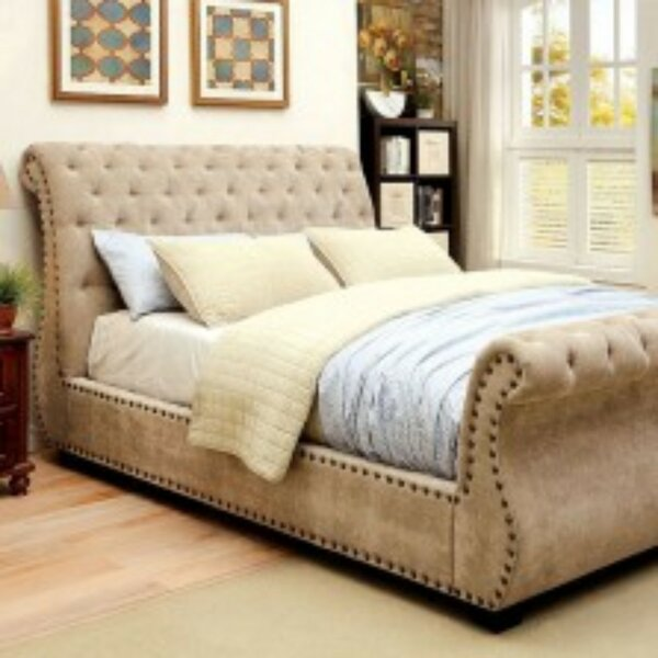 Bohon Contemporary Upholstered Sleigh Bed by Darby Home Co
