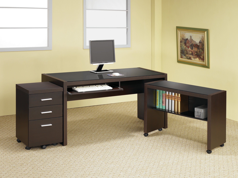 Ebern Designs Lehigh Desk 3 Piece Set Wayfair