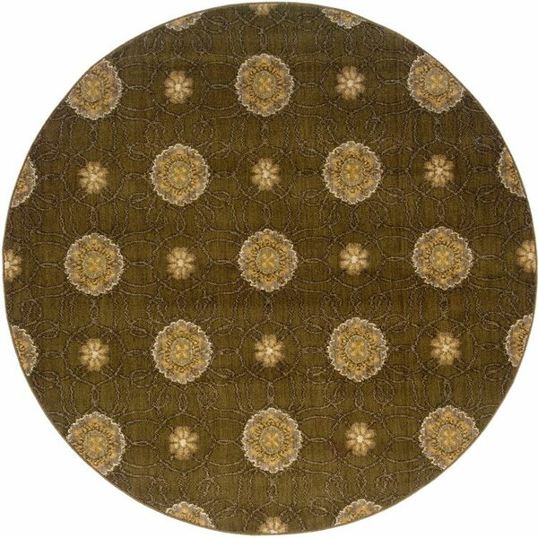 Sharyl Brown/Gold Area Rug by Bloomsbury Market