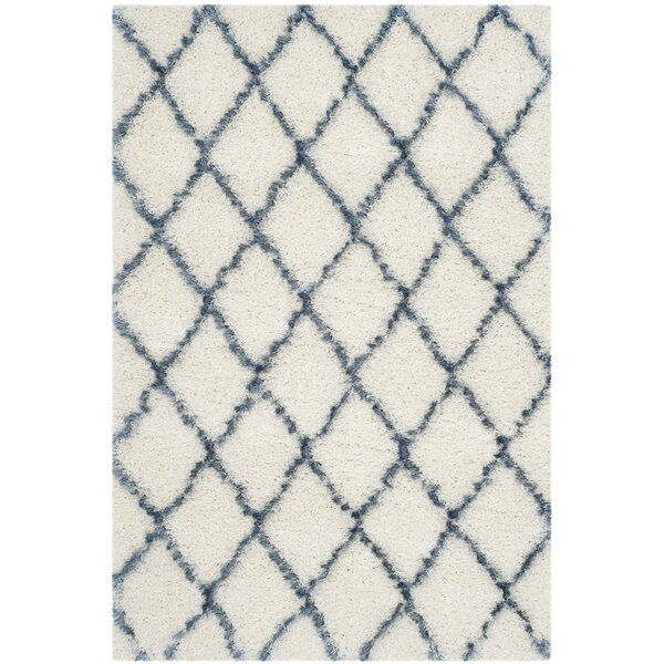 Armstead Ivory/Blue Area Rug by Brayden Studio