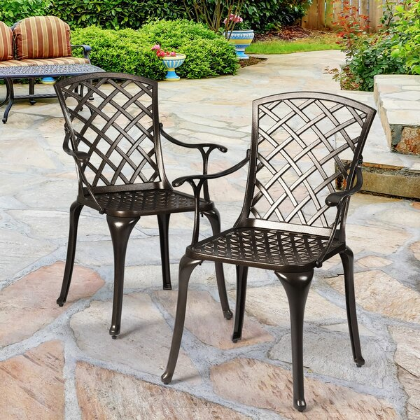 Jennette Patio Dining Chair (Set of 2) by Red Barrel Studio Red Barrel Studio