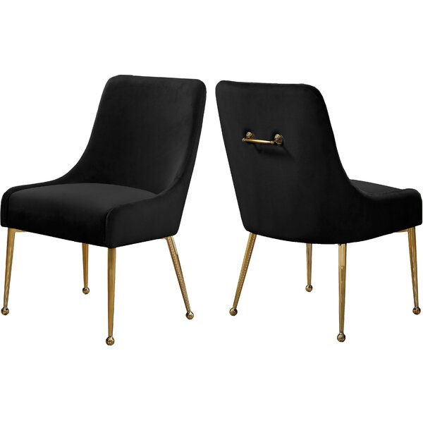 Stovall Velvet Upholstered Dining Chair (Set of 2) by Everly Quinn