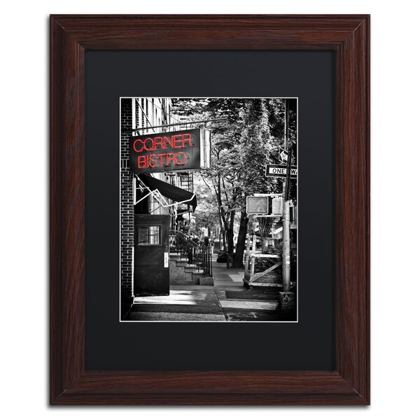 NYC Bistro by Philippe Hugonnard Framed Photographic Print by Trademark Fine Art