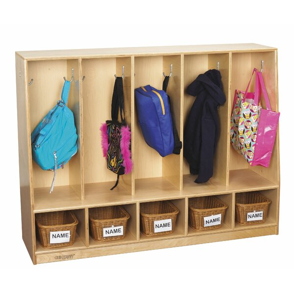 Childcraft 2 Tier 5 Wide Coat Locker by Childcraft