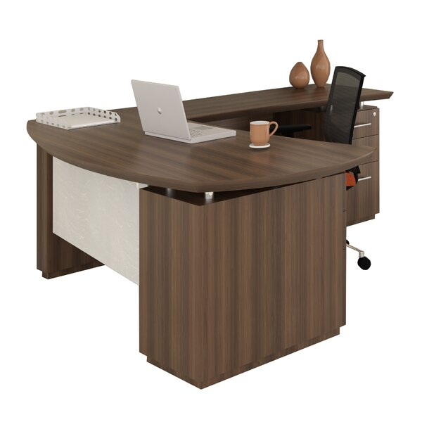 Sterling L-Shape Executive Desk by Mayline Group