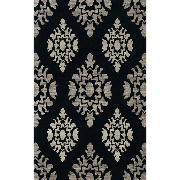 Bella Machine Woven Wool Black/Gray Area Rug by Dalyn Rug Co.