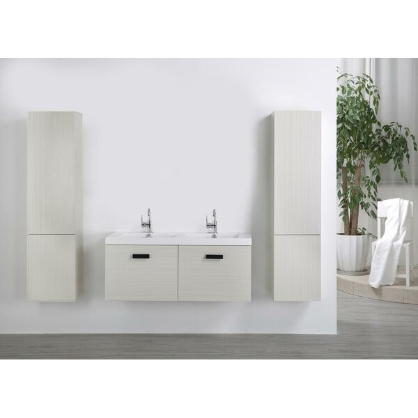 47 Wall-Mounted Double Bathroom Vanity Set by Streamline Bath
