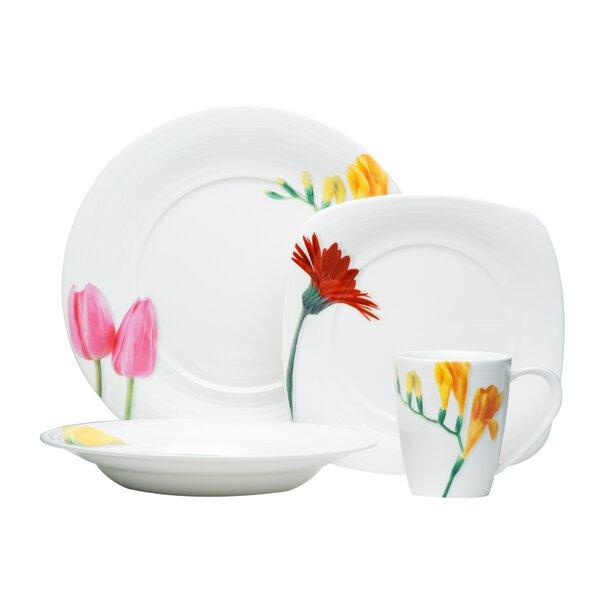 Dutch Garden 16 Piece Dinnerware Set, Service for 4 by Red Vanilla