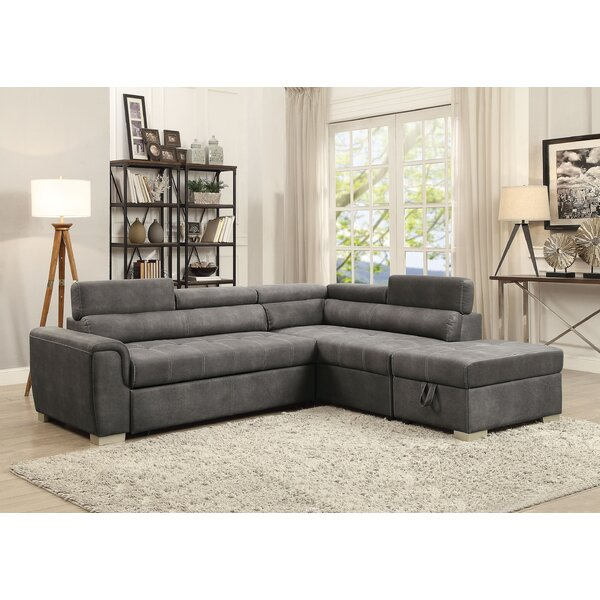 Truesdale Sleeper Sectional With Ottoman By Brayden Studio