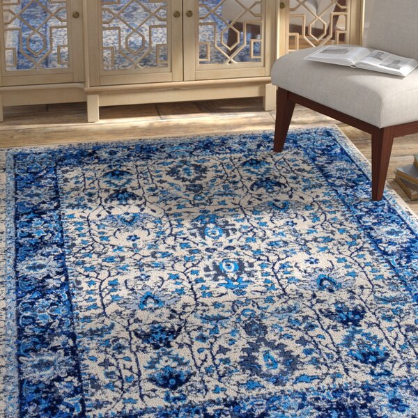 Royalwood Traditional Blue/Cream Area Rug by Bloomsbury Market