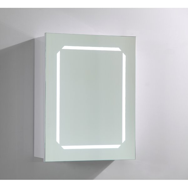 20 x 25 Surface Mount Medicine Cabinet with LED Lighting by Vanity Art