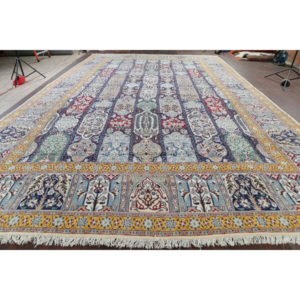 One-of-a-Kind Jenna Hand-Knotted 2010s Nain Blue 16'1 x 26' Area Rug