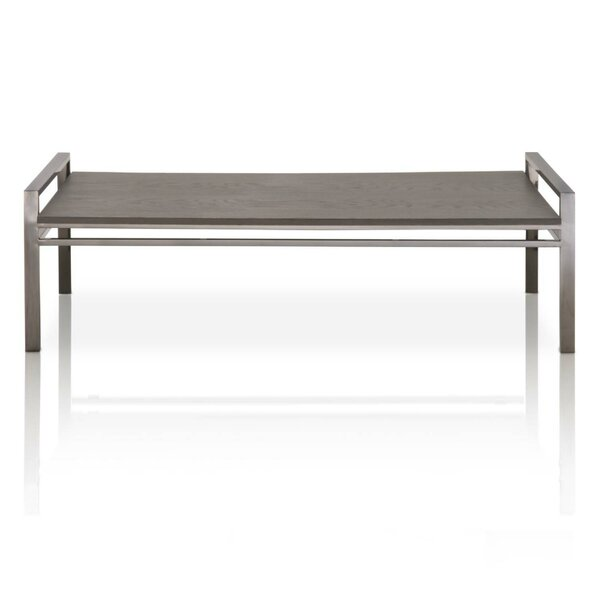 Willow Rustic Oak Wood Coffee Table by Foundry Select