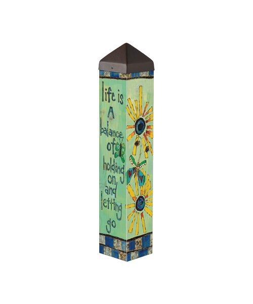 Life is a Balance Art Pole Garden Stake by Studio M