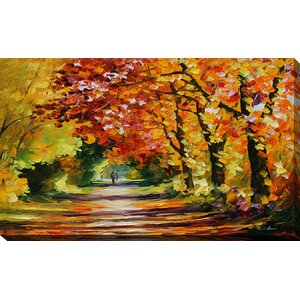 Sunny Path by Leonid Afremov Painting Print on Wrapped Canvas by Picture Perfect International