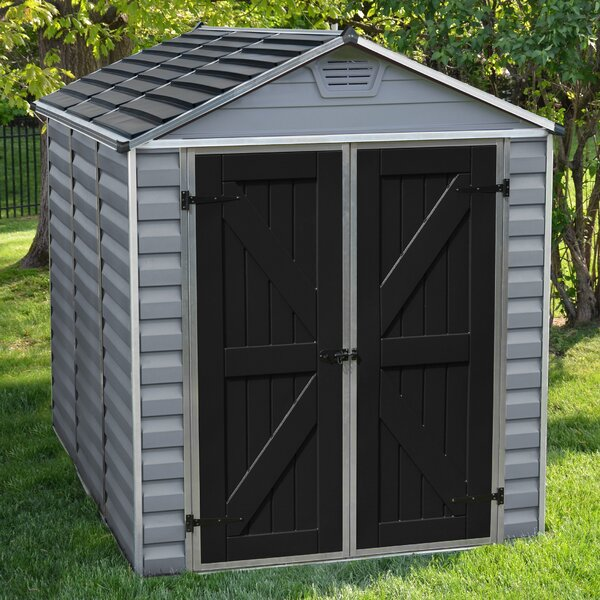 SkyLight™ 6 ft. 1 in. W x 7 ft. 7 in. D Plastic Storage Shed by Palram