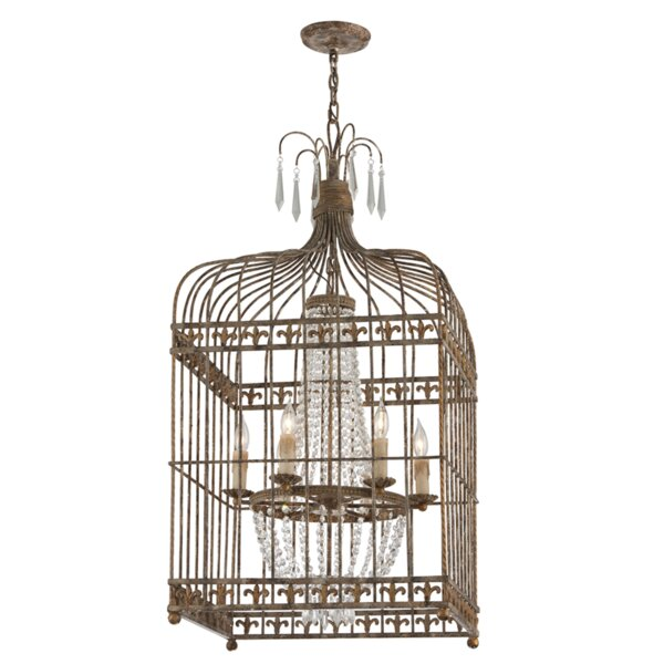 Desaree 6 - Light Lantern Square Chandelier by Astoria Grand Astoria Grand