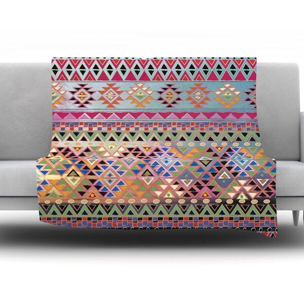 Tribal Native Fleece Throw Blanket by KESS InHouse