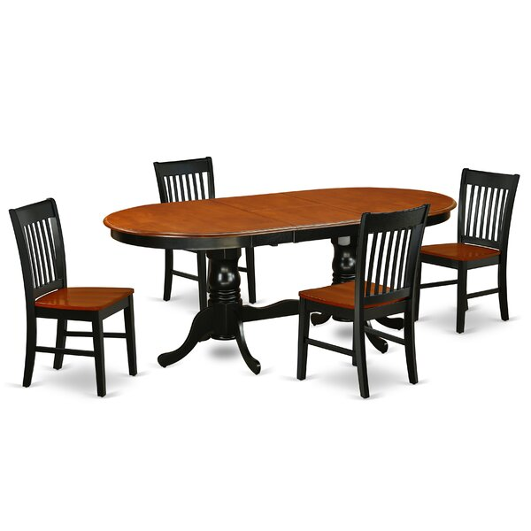 Womac 5 Piece Extendable Solid Wood Dining Set by August Grove August Grove
