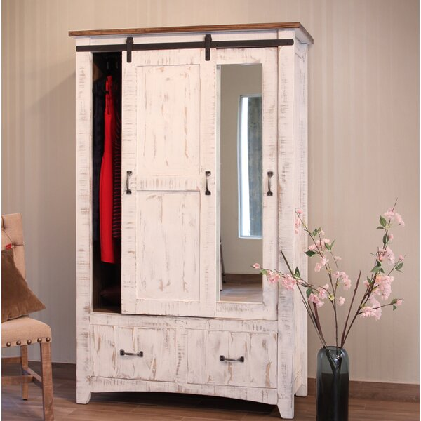 Coralie 1 Door Armoire by Gracie Oaks