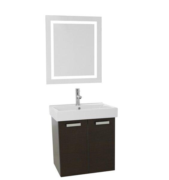 Cubical 23 Single Bathroom Vanity Set with Mirror by Nameeks Vanities