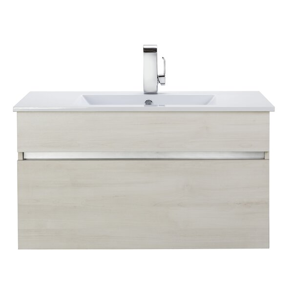 Ivory Floating 36 Single bathroom Vanity by Cutler Kitchen & Bath