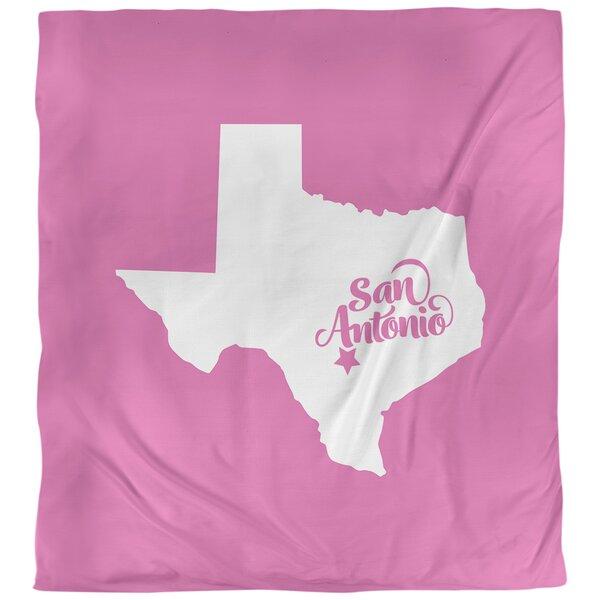 San Antonio Texas Single Reversible Duvet Cover