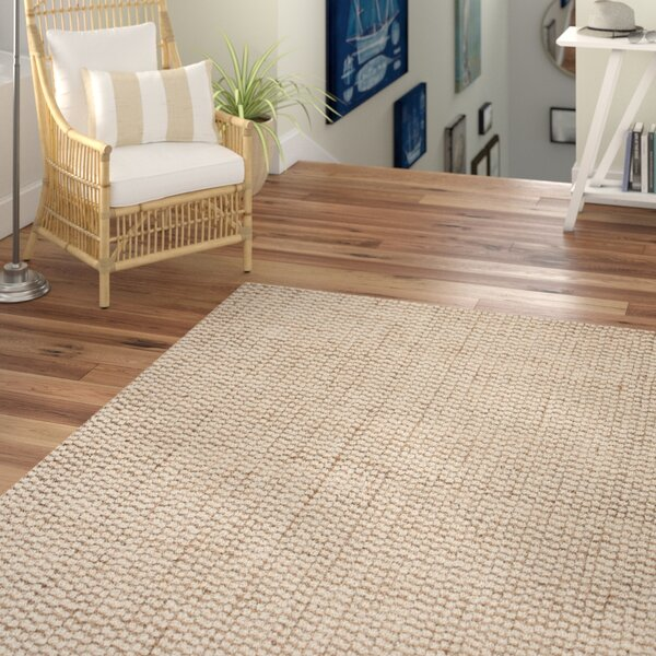 Graywell Hand-Woven Tan/Ivory Area Rug by Beachcrest Home