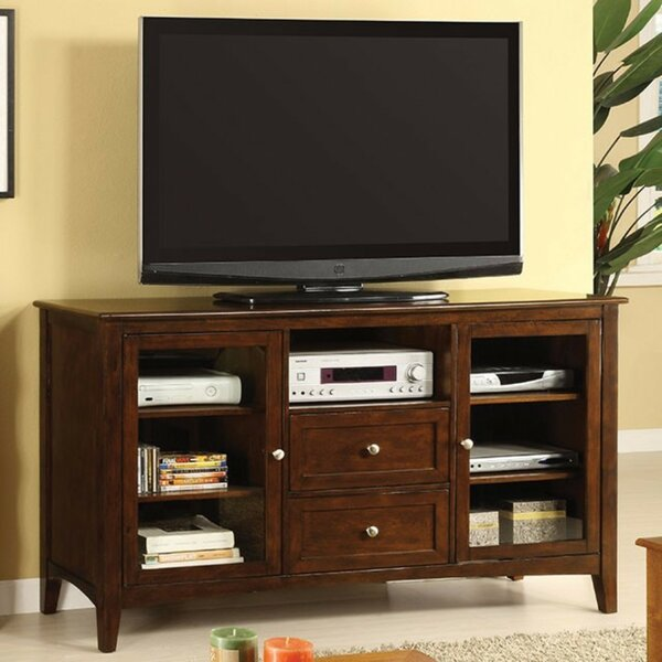 Review Eckenrode Solid Wood TV Stand For TVs Up To 65