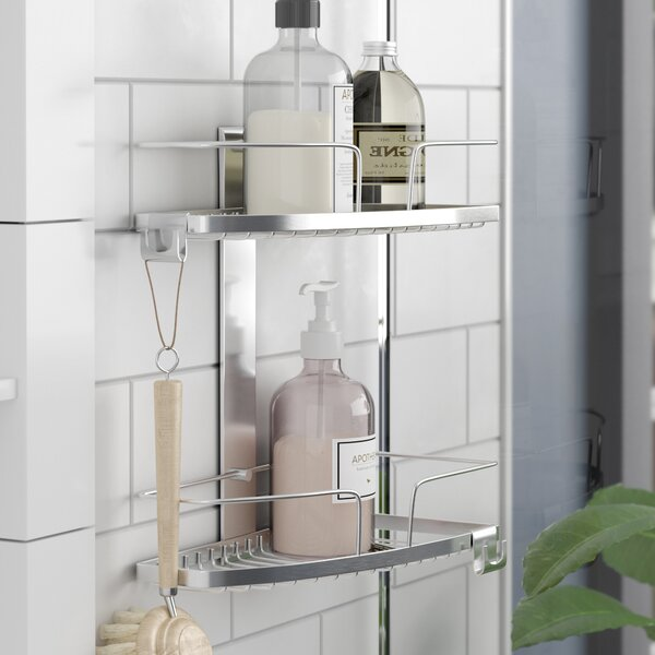 Metal Shower Caddy by Rebrilliant