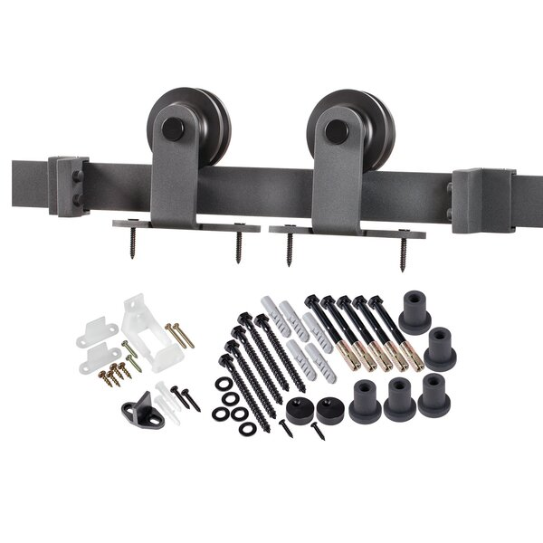 15 Lite True Divided Double Barn Door Hardware by Verona Home Design