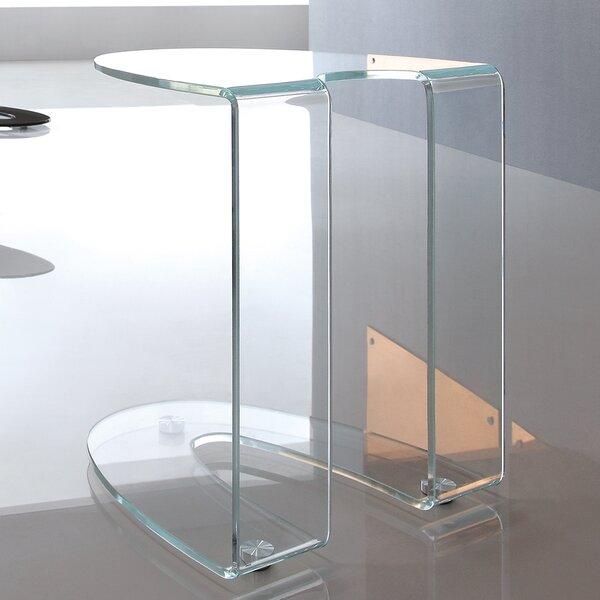Boese Glass End Table by Orren Ellis