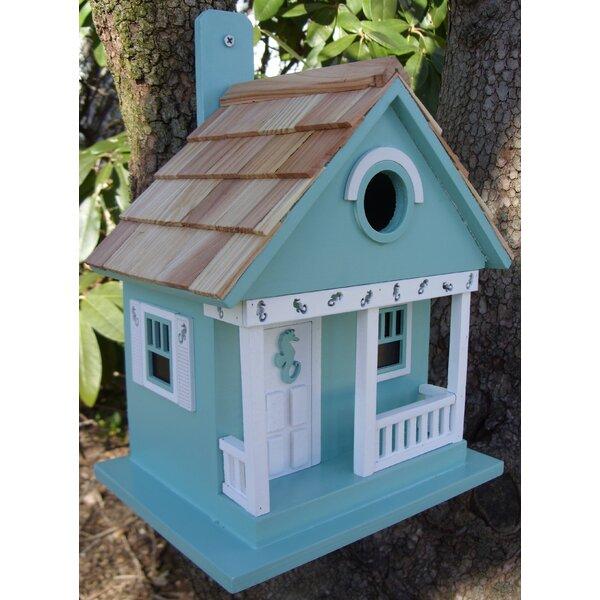 Beachcomber Sea Horse Cottage 9.5 in x 8 in x 8 in Birdhouse by Home Bazaar